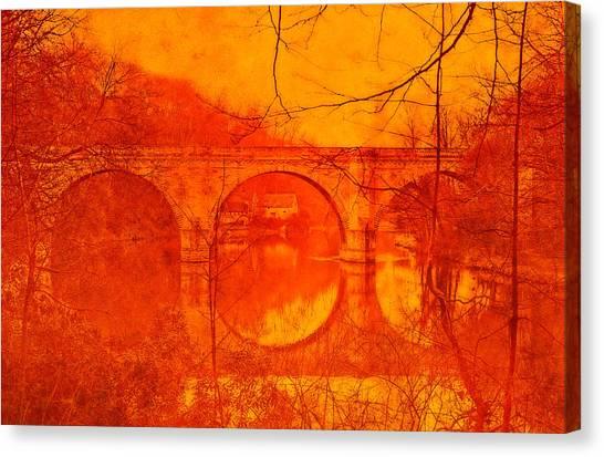 Prebends Bridge Durham City Canvas Print