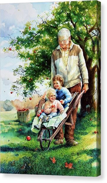 Grandpa Canvas Print - Precious Cargo by Hanne Lore Koehler
