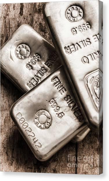 Currency Canvas Print - Precious Metal Art by Jorgo Photography - Wall Art Gallery