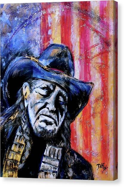 Precious Metals, Willie Americana Canvas Print