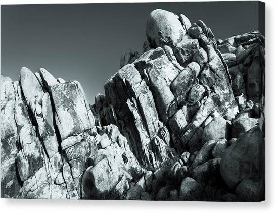 Precious Moment - Juxtaposed Rocks Joshua Tree National Park Canvas Print