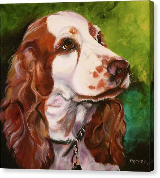 Precious Spaniel Canvas Print
