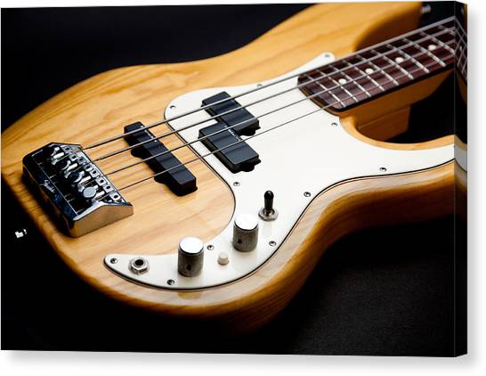 Bass Guitars Canvas Print - Precision by Peter Tellone