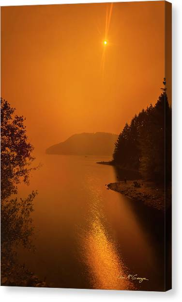 Canvas Print featuring the photograph Preclipse 8.17 by Dan McGeorge