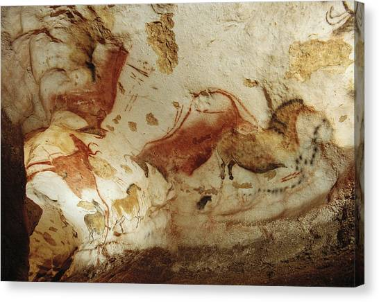 Limestone Caves Canvas Print - Prehistoric Artists Painted Robust by Sisse Brimberg