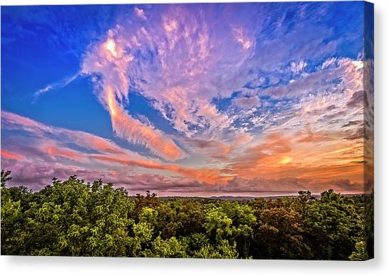 Southern Illinois University Canvas Print - Prehistoric Sunset by Todd Reese