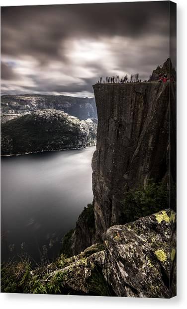 Preikestolen Canvas Print - Preikestolen, The Pulpit Rock - Norway - Landscape Photography by Giuseppe Milo