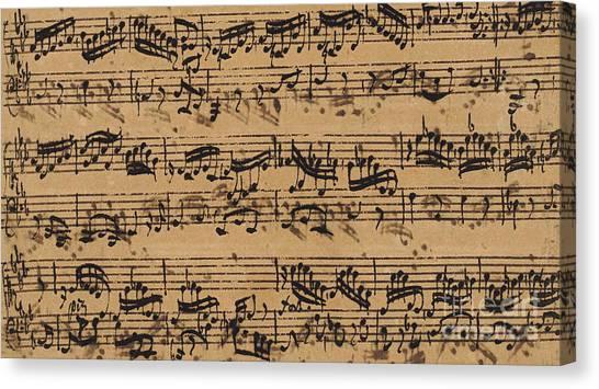 Baroque Canvas Print - Prelude, Fugue And Allegro In E Flat by Johann Sebastian Bach