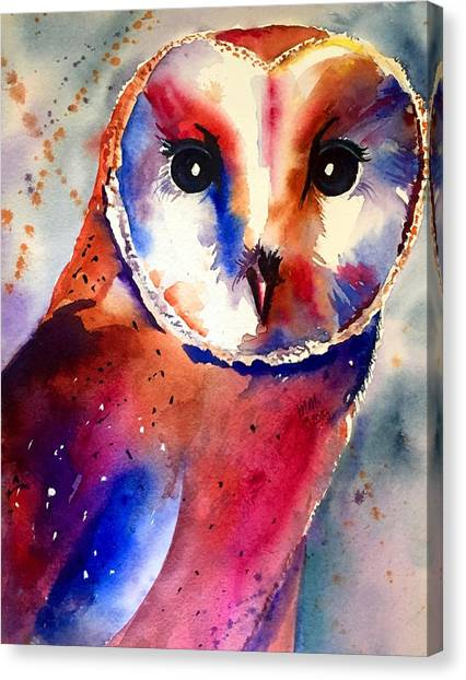 Canvas Print featuring the painting Present Moment  by Michal Madison