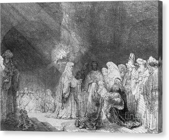 Presentations Canvas Print - Presentation In The Temple by Rembrandt