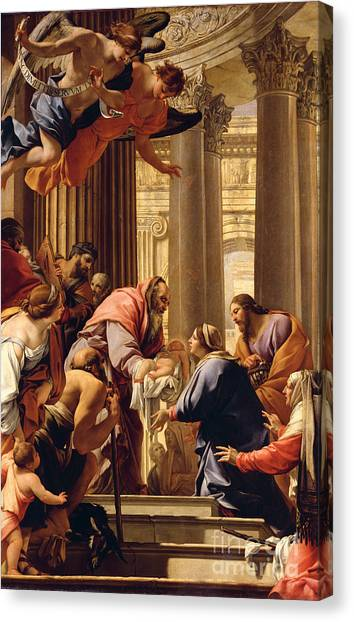Presentations Canvas Print - Presentation In The Temple by Simon Vouet