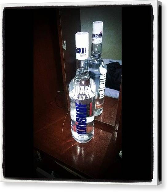 Vodka Canvas Print - Presentinho Que Meu Pai Me Deu! Hahaha by Jackson Marotto Inocente