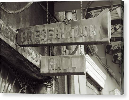 Preservation Hall, French Quarter, New Orleans, Louisiana Canvas Print