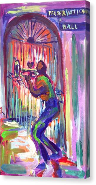 Preservation Hall New Orleans Canvas Print by Saundra Bolen Samuel