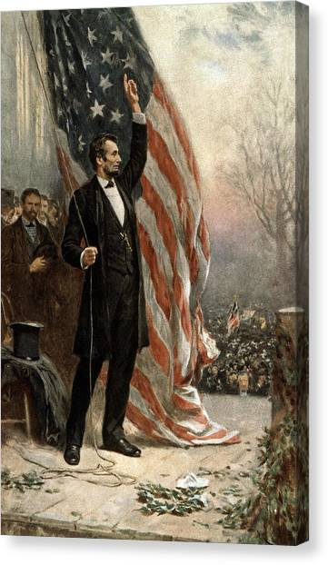U. S. Presidents Canvas Print - President Abraham Lincoln - American Flag by International  Images