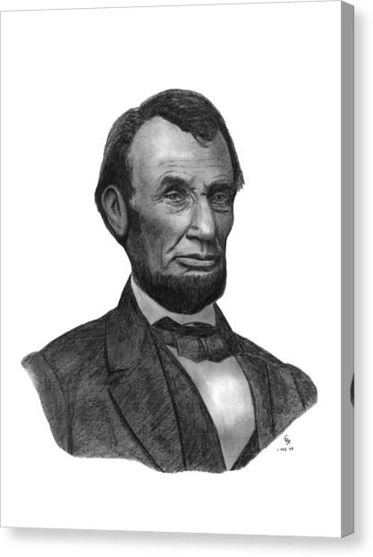 Lincoln Canvas Print - President Abraham Lincoln by Charles Vogan