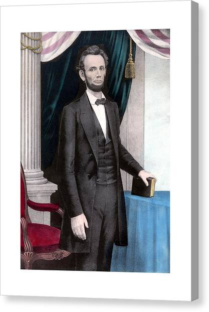 Abraham Lincoln Canvas Print - President Abraham Lincoln In Color by War Is Hell Store