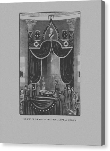 Abraham Lincoln Canvas Print - President Abraham Lincoln Lying In State by War Is Hell Store