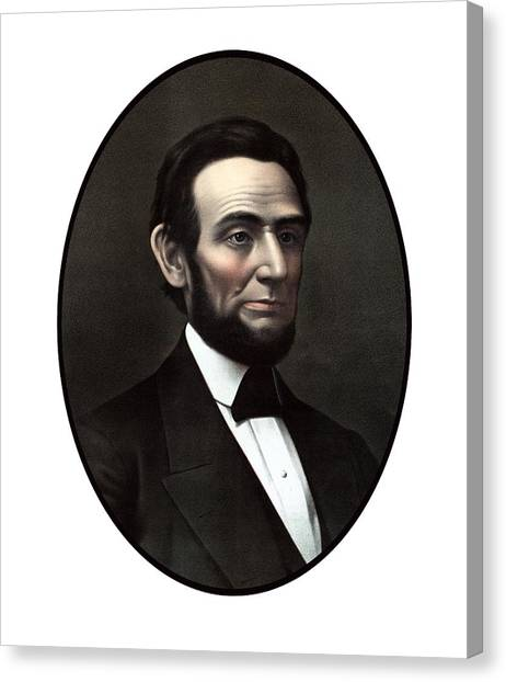 Abraham Lincoln Canvas Print - President Abraham Lincoln  by War Is Hell Store