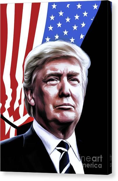 Donald Trump Canvas Print - President by Andrzej Szczerski