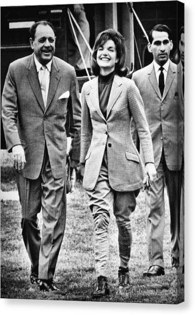 First Lady Canvas Print - President Ayub Khan Left, Of Pakistan by Everett