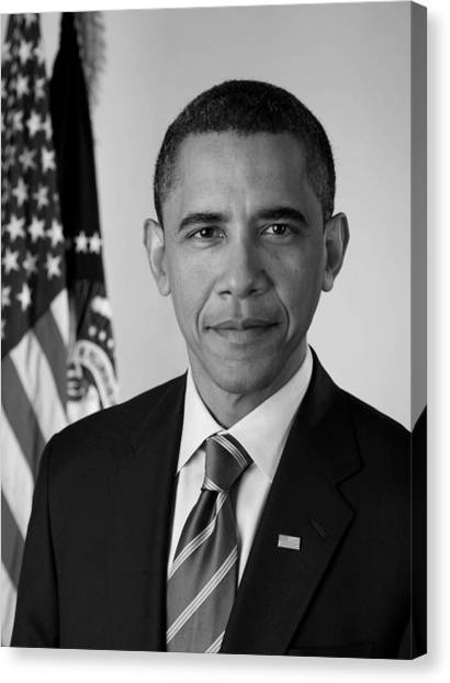 Democratic Canvas Print - President Barack Obama - Official Portrait by War Is Hell Store