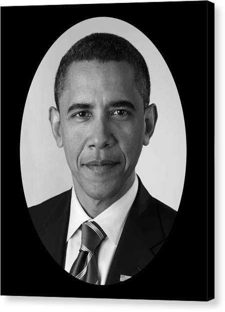 President Canvas Print - President Barack Obama by War Is Hell Store