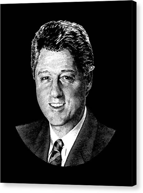 Bill Clinton Canvas Print - President Bill Clinton Graphic by War Is Hell Store