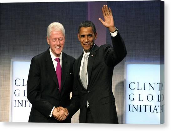 Bill Clinton Canvas Print - President Bill Clinton, President by Everett