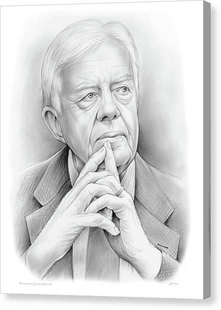 Cartera Canvas Print - President Carter by Greg Joens
