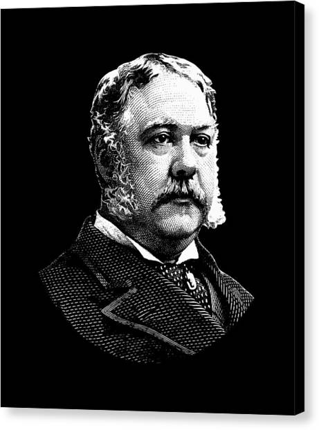 Republican Presidents Canvas Print - President Chester Arthur by War Is Hell Store