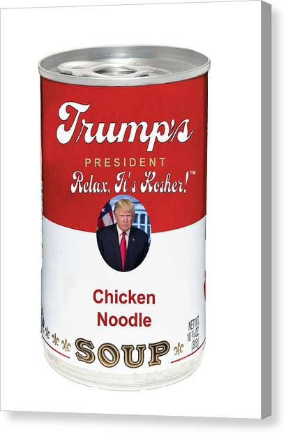 Paul Ryan Canvas Print - Trump In A Tin by Doc Braham