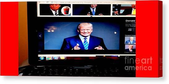 Mike Pence Canvas Print - President Elect Donald J. Trump Two Guns Blazing by Richard W Linford
