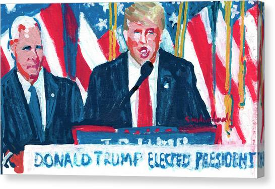 Mike Pence Canvas Print - President Elect Donald Trump And Vice President Elect Mike Pence  by Candace Lovely
