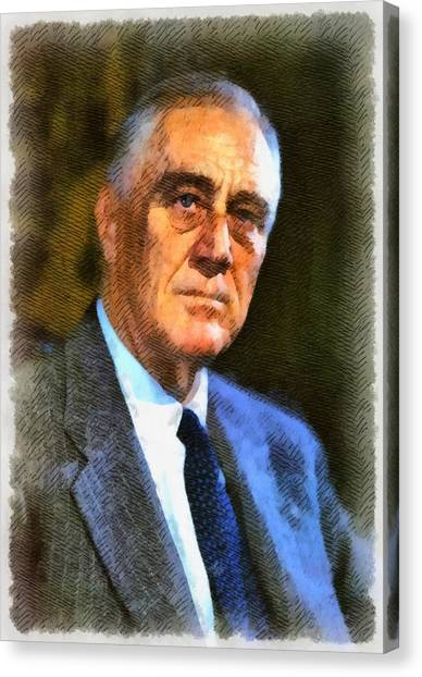 Franklin D. Roosevelt Canvas Print - President Franklin D. Roosevelt by John Springfield