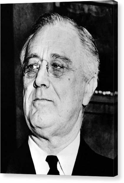 Democratic Canvas Print - President Franklin Delano Roosevelt by War Is Hell Store