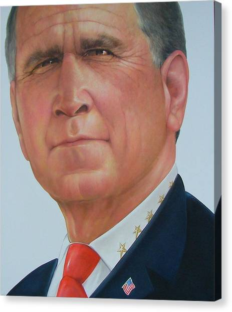 President George W. Bush Canvas Print by Gary Kaemmer