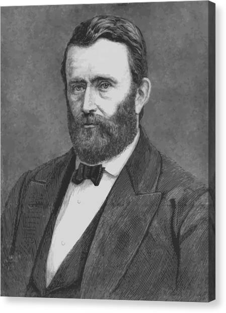 U. S. Presidents Canvas Print - President Grant by War Is Hell Store
