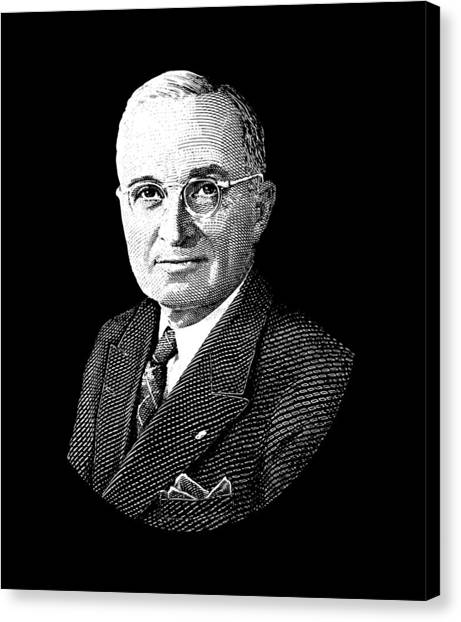 Harry Truman Canvas Print - President Harry Truman Graphic by War Is Hell Store