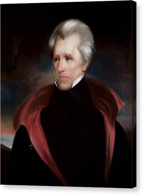 President Canvas Print - President Jackson by War Is Hell Store