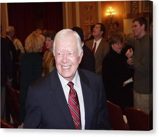 President Jimmy Carter - Nobel Peace Prize Celebration Canvas Print