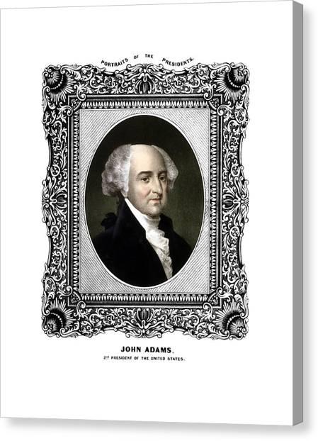 Revolutionary War Canvas Print - President John Adams Portrait  by War Is Hell Store