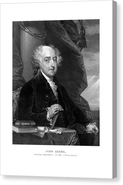 Revolutionary War Canvas Print - President John Adams - Three by War Is Hell Store