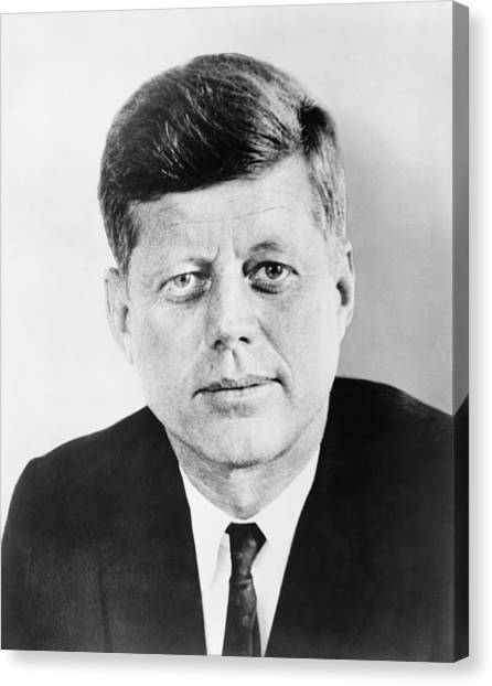 Democratic Canvas Print - President John F. Kennedy by War Is Hell Store