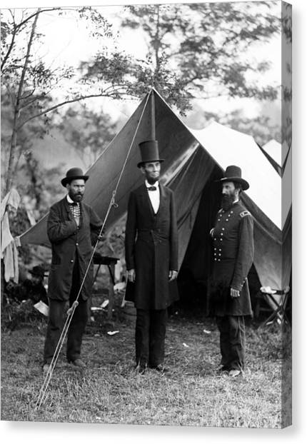 U. S. Presidents Canvas Print - President Lincoln Meets With Generals After Victory At Antietam by International  Images