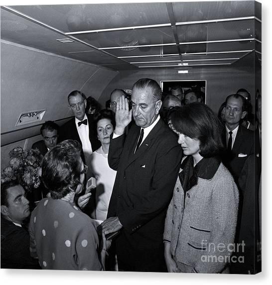 Lyndon Johnson Canvas Print - President Lyndon Baines Johnson by The Titanic Project