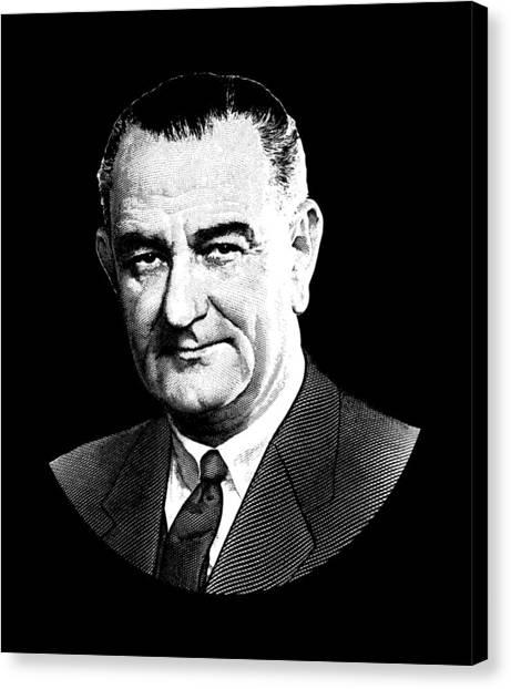 Lyndon Johnson Canvas Print - President Lyndon Johnson Graphic by War Is Hell Store