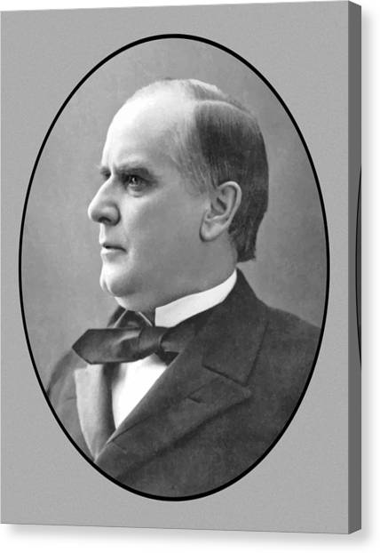 Republican Presidents Canvas Print - President Mckinley by War Is Hell Store