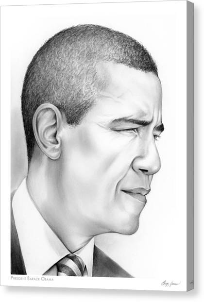 Barack Obama Canvas Print - President Obama by Greg Joens