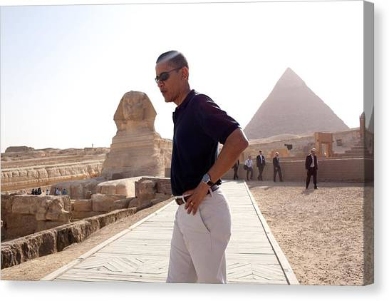 Bswh052011 Canvas Print - President Obama Tours The Egypts Great by Everett